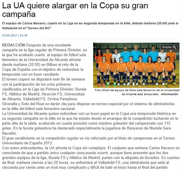 Copa de España de Fútbol Sala Femenino 2013