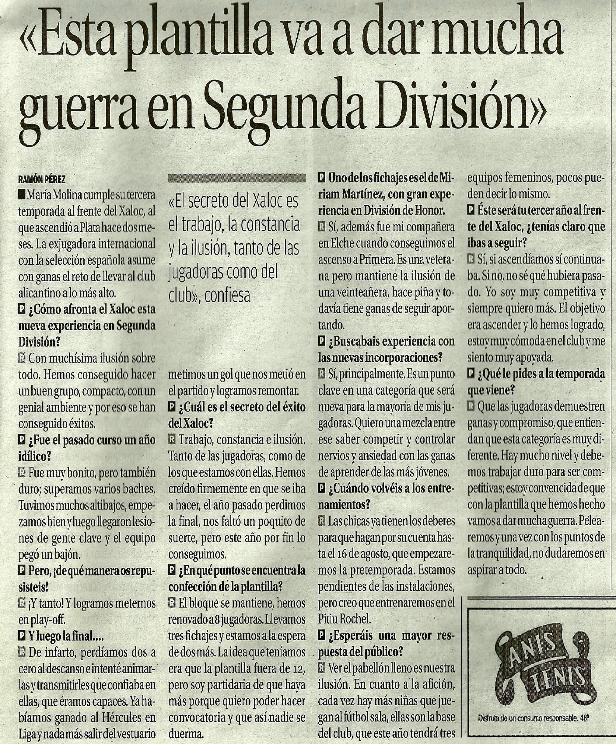 Entrevista Diario Información Alicante